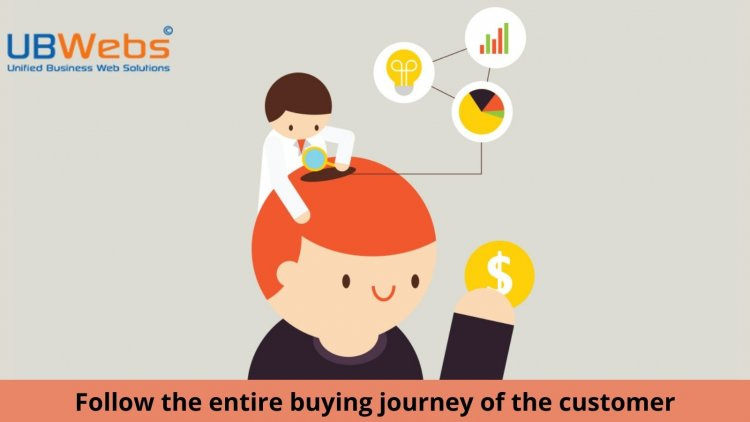 Follow the entire buying journey of the customer